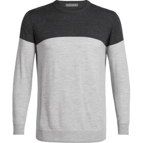 Icebreaker Shearer Crewe Sweater Herre char heather/steel heather